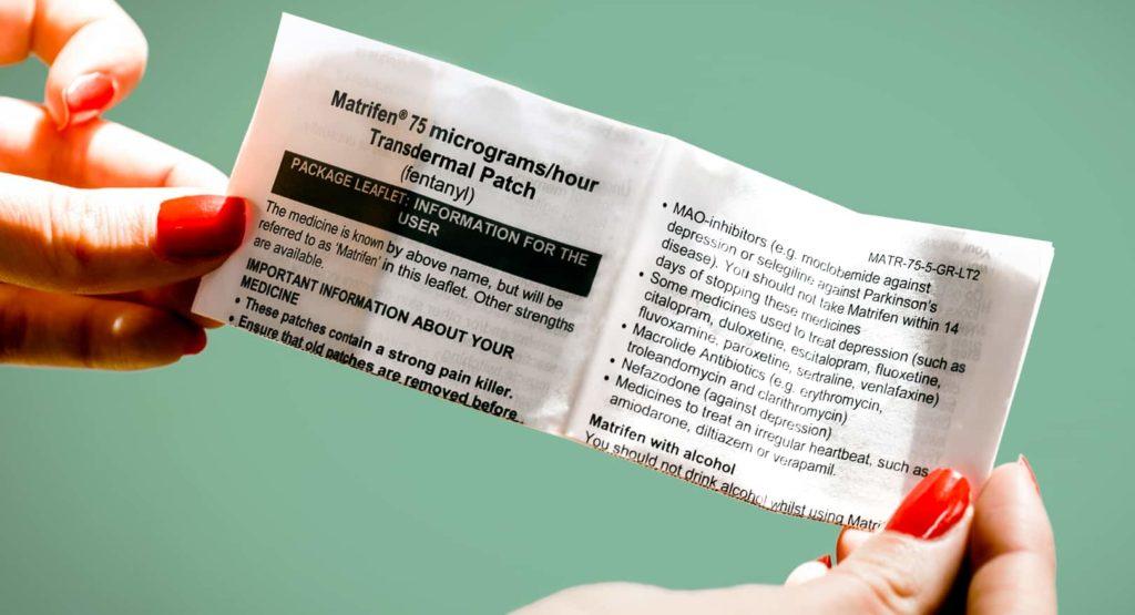 Pharmaceutical leaflet print